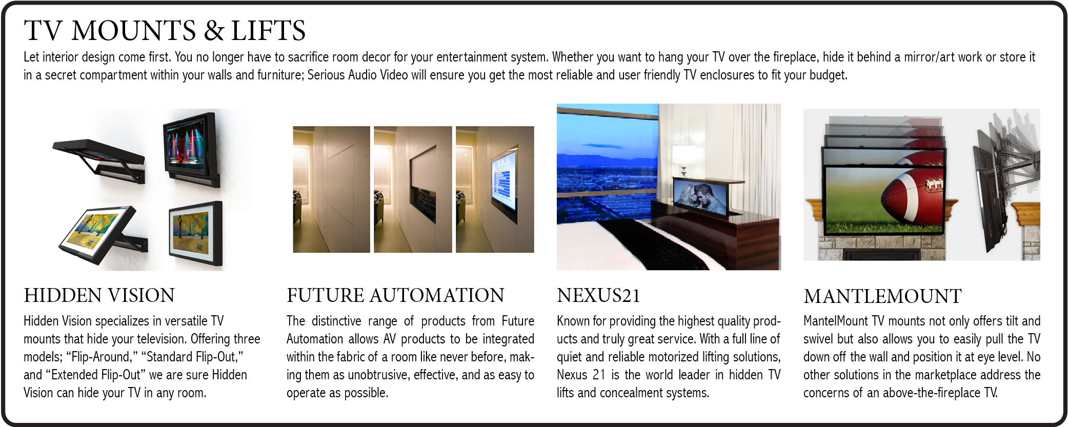 tv-mounts-motorized-lifts-hidden-vision-future-automation-nexus21-mantlemounts-serious-audio-video-nj