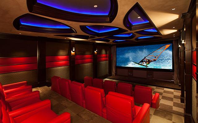 Ferrari-inspired Home Theater