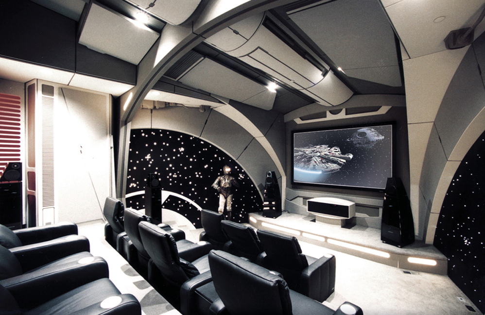 Death Star Themed Home Theater