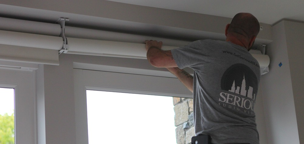 Installing qmotion serious audio video for How to install motorized blinds